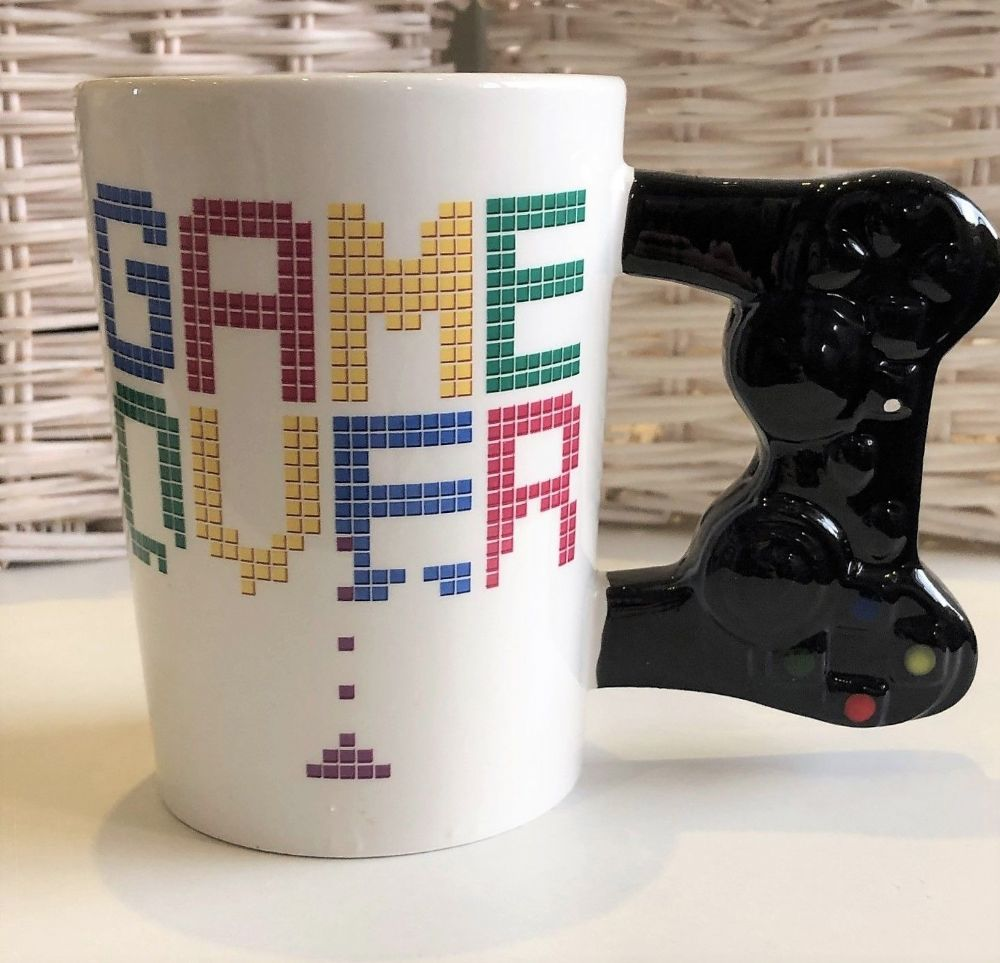 Gaming Mug with Black Games Control Handle